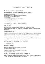 Filipino Catholic Wedding Ceremony - The Roman Catholic church ...