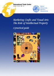 Marketing Crafts and Visual Arts: The Role of Intellectual ... - WIPO