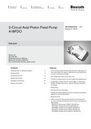 2-Circuit Axial Piston Fixed Pump A18FDO - Group VH A/S