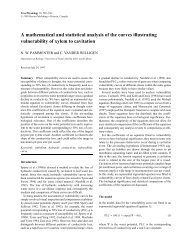 a mathematical and statistical analysis of the ... - Tree Physiology
