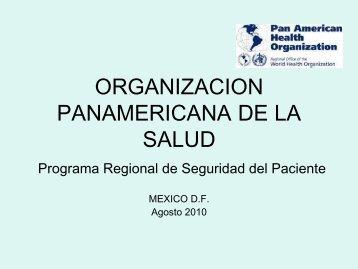 Programa de Seguridad del Paciente para la Región de las Américas