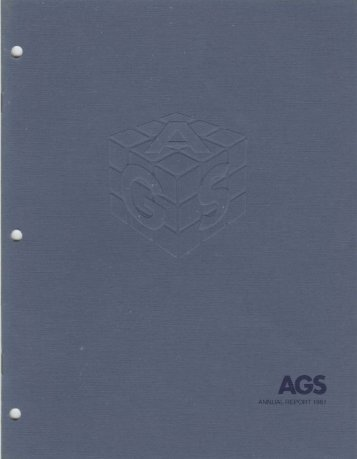 AGS Computers Annual Report 1981 - the Information Technology ...