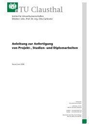 Anleitung zur Anfertigung von Projekt-, Studien- und Diplomarbeiten