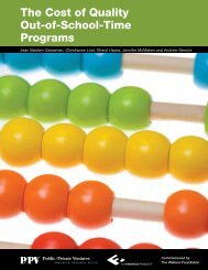 The Cost of Quality Out-of-School-Time Programs - Statewide ...