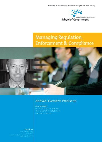 Managing Regulation, Enforcement & Compliance - Australia and ...