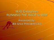 WJG Enterprises RUNNING THE RACE - MAPP