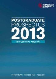 PROSPECTUS - Study in the UK