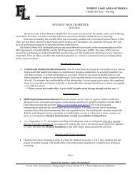 Cover Letter Student Health Service 2013-2014 - Forest Lake Area ...