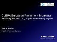 CLEPA European Parliament Breakfast - Anticipation of Change