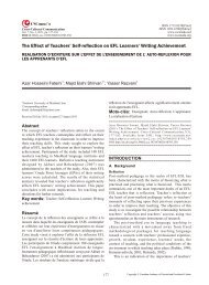 The Effect of Teachers' Self-reflection on EFL Learners' Writing ...