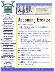 November 30, 2012 - St. Elizabeth Ann Seton Catholic School