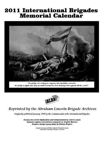 201 1 International Brigades Memorial Calendar