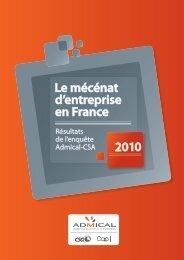 enquête Admical-CSA 2010