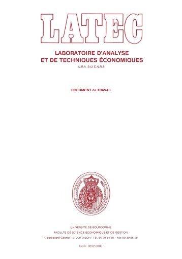 laboratoire d'analyse et de techniques économiques - Lara