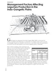 Management Factors Affecting Legumes Production in the Indo ...