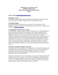 Draft Summary of conference call Liability Working Group WRI ...