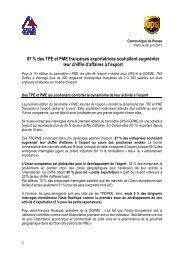 87 % des TPE et PME françaises exportatrices souhaitent ...