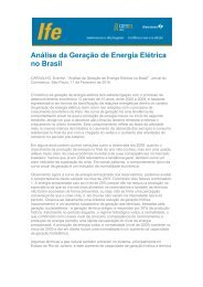Análise da Geração de Energia Elétrica no Brasil - UFRJ