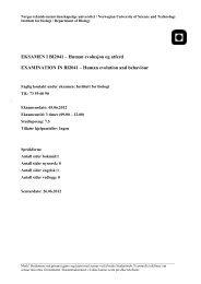 EKSAMEN I BI2041 – Human evolusjon og ... - Institutt for biologi