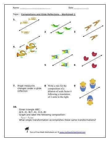 Glide Reflection Worksheet - Sharebrowse