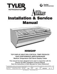 Installation & Service Manual - Hillphoenix