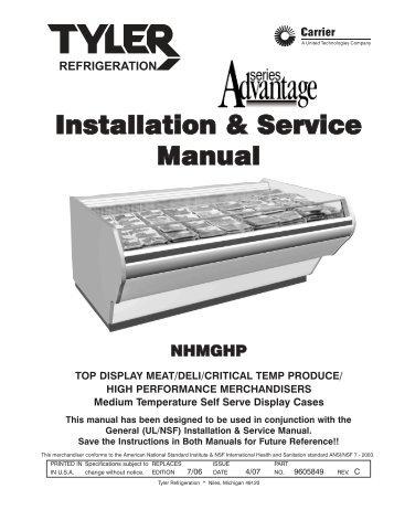 installation service manual ism a5fgn t hillphoenix rh yumpu com Frigidaire Refrigerator Manual Frigidaire Dishwasher Manual