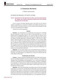 Resolución de 9 de septiembre de 2011, de la Dirección General de ...