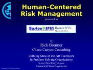 Human-Centered Risk Management - Boston SPIN