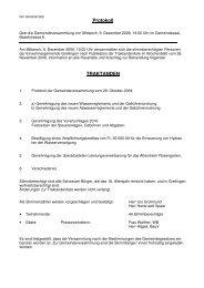 Protokoll vom 09. Dezember 2009 - Grellingen