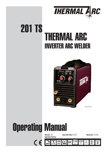 201 TS Operating Manual THERMAL ARC - Victor Technologies