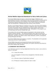1 Dairy 2012 v1 Animal Welfare Approved Standards for Dairy Cattle ...