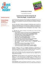 Lancement du Club des Entreprises de Thiais-Orly Rugby : un grand ...