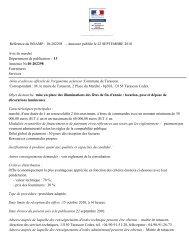 Annonce publiée le 22 SEPTEMBRE 2010 Avis de ... - Tarascon