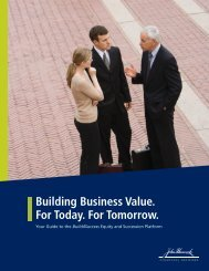 Building Business Value. For Today. For Tomorrow.