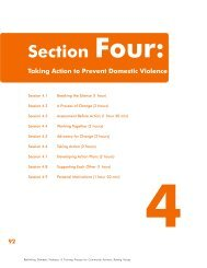 Section Four: Taking Action to Prevent Domestic ... - Raising Voices