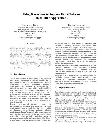 Using Ravenscar to Support Fault-Tolerant Real-Time ... - SIGAda