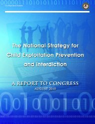 The National Strategy for Child Exploitation Prevention and Interdiction