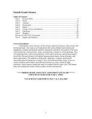 Fourth Grade Science - Auburn School District