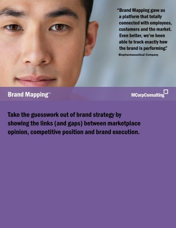 Brand Mapping: An MCorp Consulting Overview