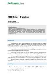 PHPdetail - Function - IlmuKomputer.Com