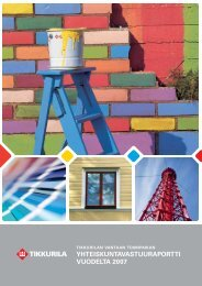 Yhteiskuntavastuuraportti 2007 - Tikkurila