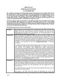 HSBC ETFs PLC VEREINFACHTER PROSPEKT 25. SEPTEMBER ...