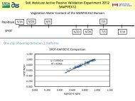 Vegetation water content imaging during SMAPVEX12 (M. Cosh)