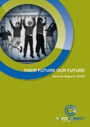 View a copy of the 2009 Annual Report - Youth Connect
