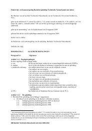 Onderwijs- en Examenregeling Bacheloropleiding Technische ...