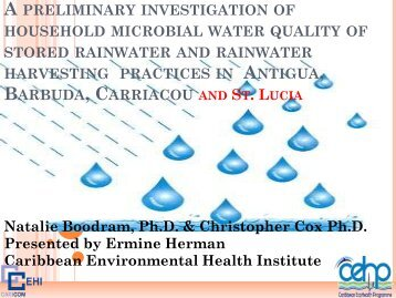 Investigation of Microbial Water Quality in Caribbean Rainwater ...