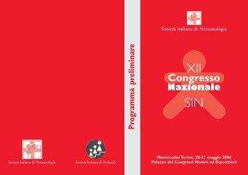 Programma - xix congresso nazionale sin - Società Italiana di ...