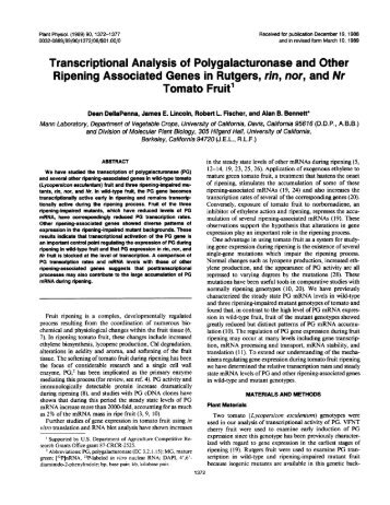 Transcriptional Analysis of Polygalacturonase ... - Plant Physiology
