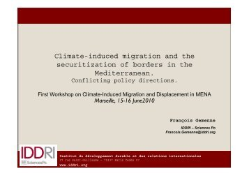 Climate-induced migration and the securitization of borders in ... - AFD