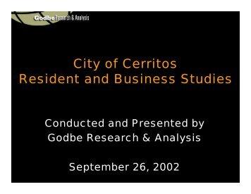 Presentation of Results (PDF) - City of Cerritos